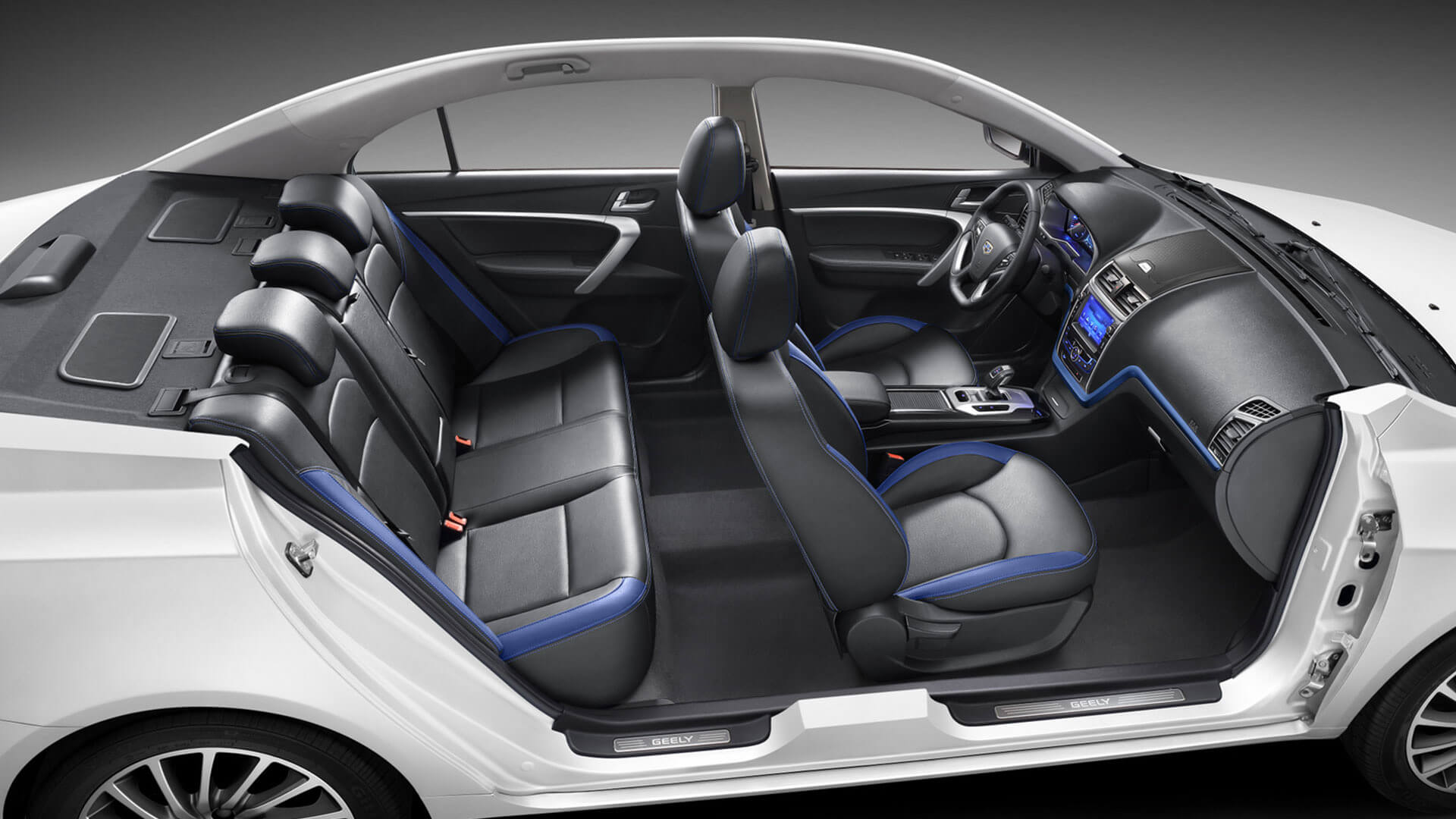 Geely Emgrand EV rear seats