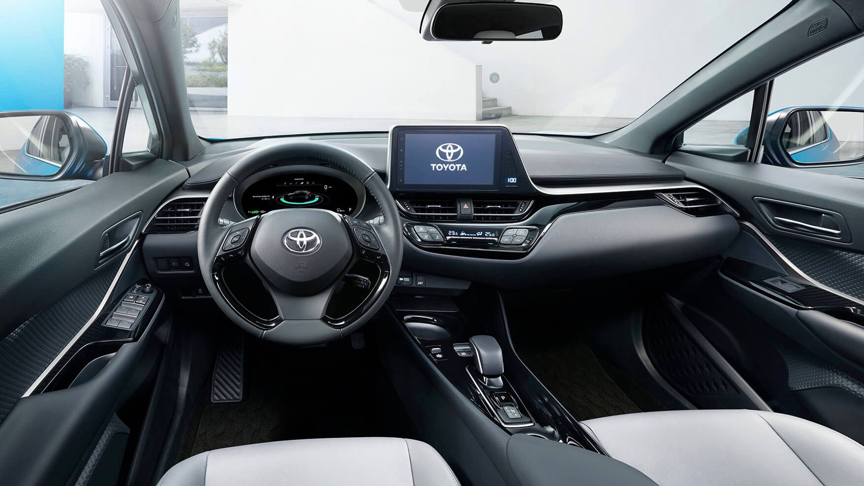 Electric Toyota C-HR interior